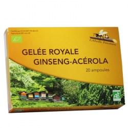 Gelée Royale, Ginseng, Acérola Bio - 20 ampoules - L'Abeille Forestière