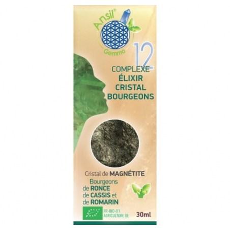 Complexe N°12 - Élixir de magnétite et bourgeons de ronce, cassis, romarin Bio - 30 ml - Ansil - 2021
