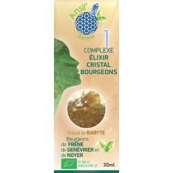 Etui Élixir de baryte et bourgeons de frêne, genévrier, noyer - N° 1 - 30 ml - Ansil
