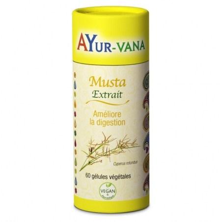 Musta (souchet rond) - Pilulier de 60 gélules végétales - Ayurvana- 2021