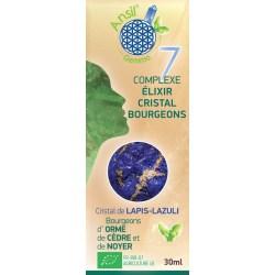 Élixir de lapis-lazuli et bourgeons d'orme, cèdre, noyer - N°7 boîte