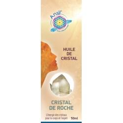 Cristal de roche - Huile de cristaux - Etui