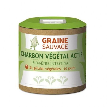 Charbon Végétal Actif - 80 gélules végétales - Graine Sauvage - 2021