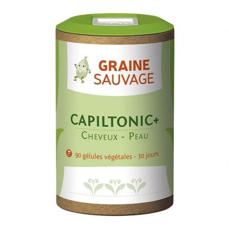 Capiltonic + - 90 gélules végétales - Graine sauvage - 2021