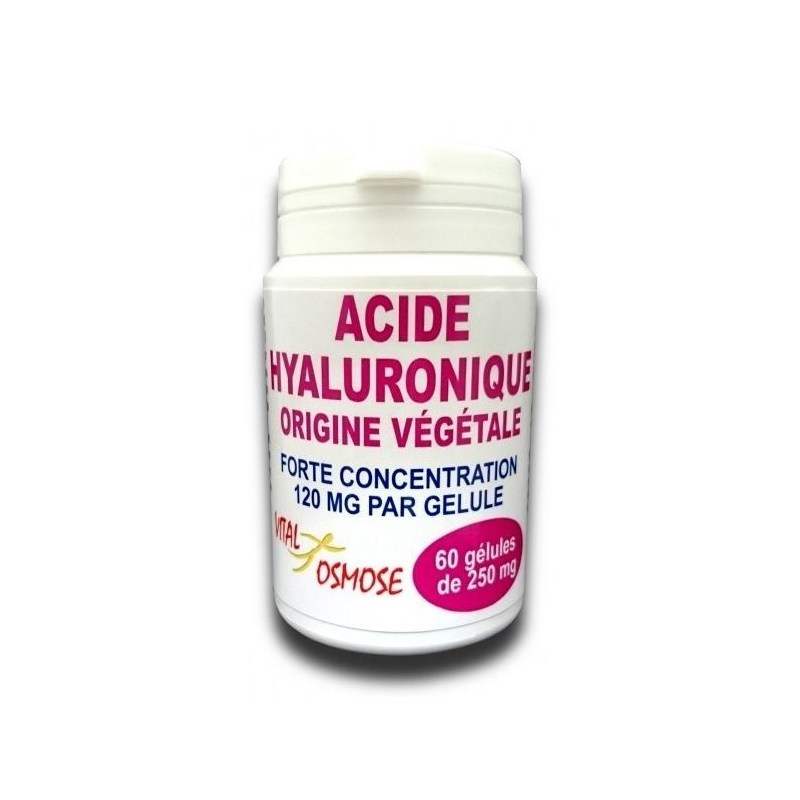Acide hyaluronique forte concentration -  60 gélules - Vital Osmose - 2021