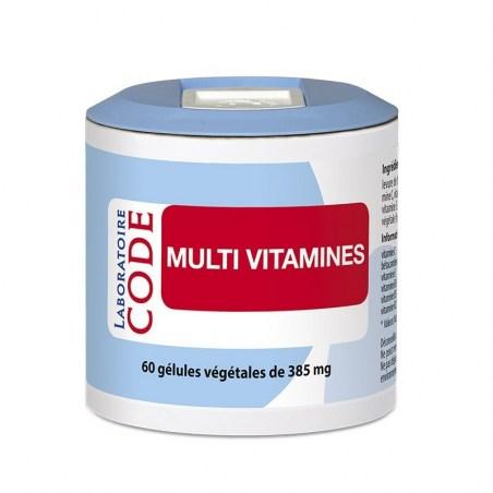 Multi Vitamines - 60 gélules végétales - Laboratoire CODE - 2021