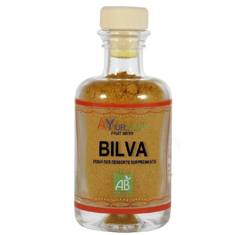 Bilva (Aegle marmelos) Bio - Poudre de fruit pour desserts - 50 g - Ayurvana - 2021
