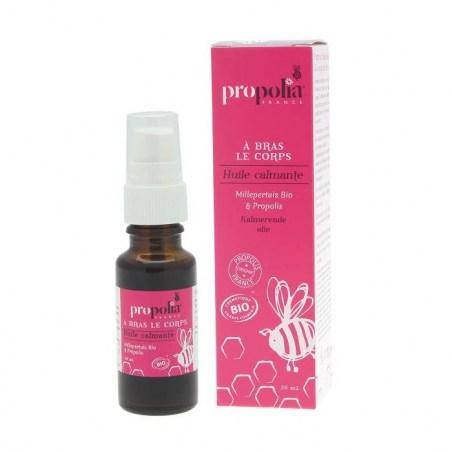 Huile calmante Bio - Propolis, Lavandin et Millepertuis - Flacon 20 ml - Propolia