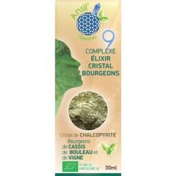 Étui Élixir de chalcopyrite et bourgeons de cassis, bouleau, vigne - N°9 - 30 ml - Ansil