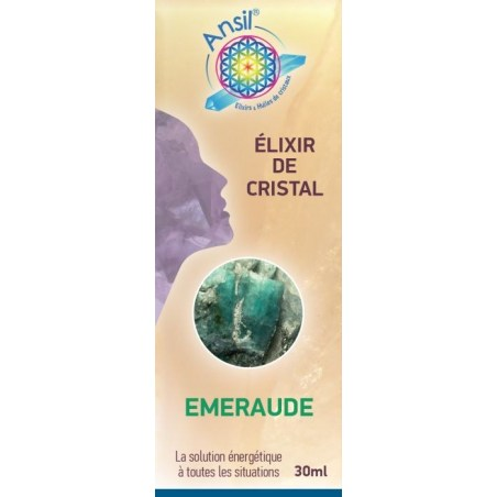 Etui Émeraude - Élixir de Cristaux - 30 ml - Ansil - 2021