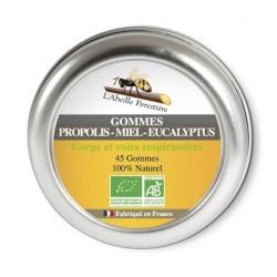 Gommes propolis miel eucalyptus bio - 45 gommes - L'Abeille Forestière