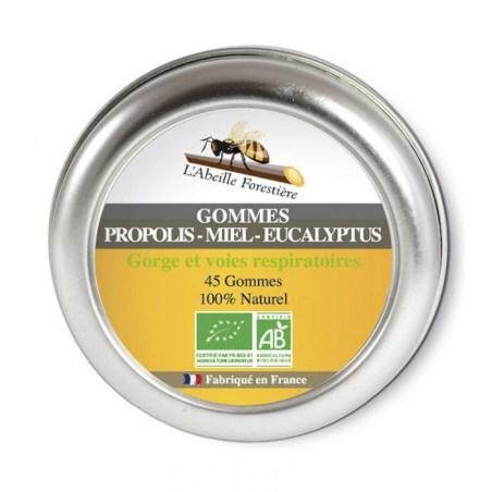 Gommes propolis miel eucalyptus bio - 45 gommes - L'Abeille Forestière - 2021