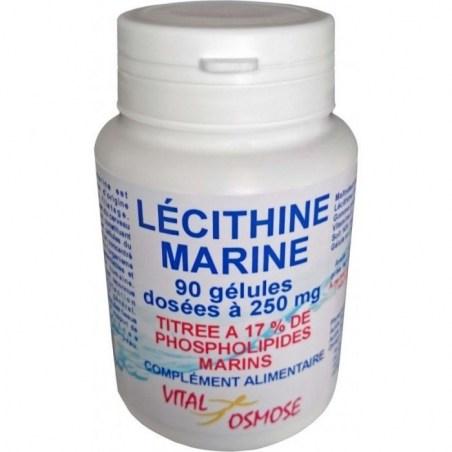 Lécithine marine titrée à 17% de phospholipides marins - 90 gélules - Vital Osmose - 2020