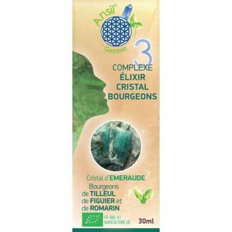 Complexe élixir d'émeraude et bourgeons de tilleul, figuier, romarin - N°3 - 30 ml - Ansil - 2021