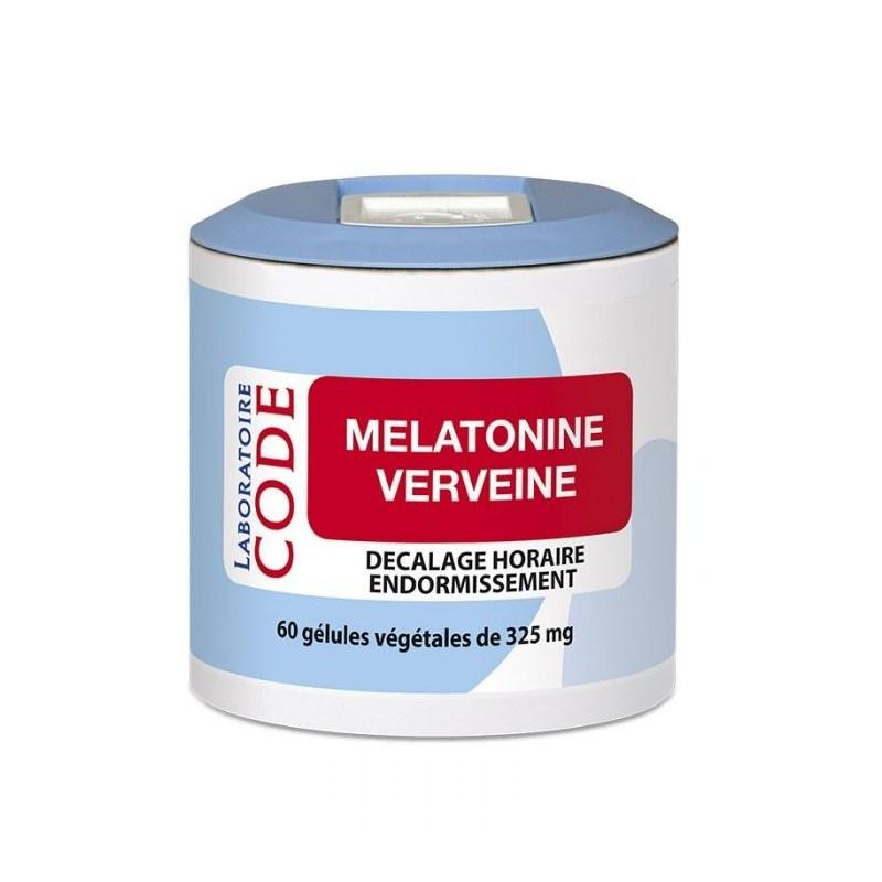 Mélatonine Verveine - 60 gélules végétales - Laboratoire CODE - 2021