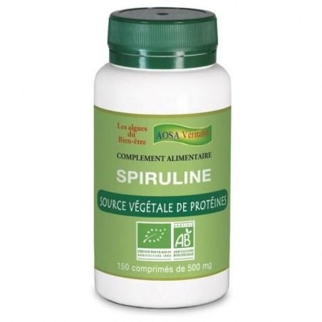 Spiruline - 150 comprimés de 500mg - Aosa Véritable - 2021