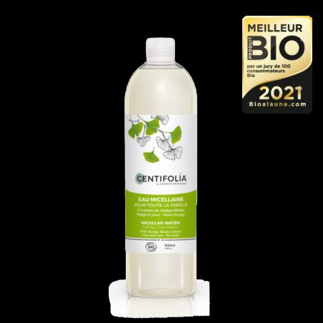 Eau micellaire pour toute la famille - 500 ml - Centifolia - Meilleurs produits bio 2021
