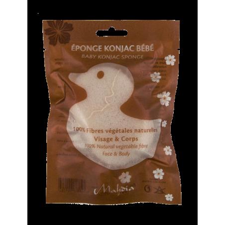 Eponge Konjac Naturelle Bébé visage & corps - Mahdia de Beliflor