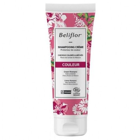 Shampoing crème COULEUR Bio & Végan - cheveux colorés - 200 ml - Beliflor - 2021