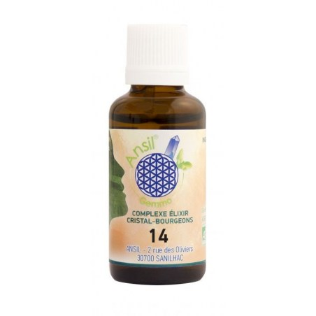 Élixir de fluorite et bourgeons de sapin pectiné, aulne glutineux, romarin Bio - N°14 - 30 ml - Ansil - 2021