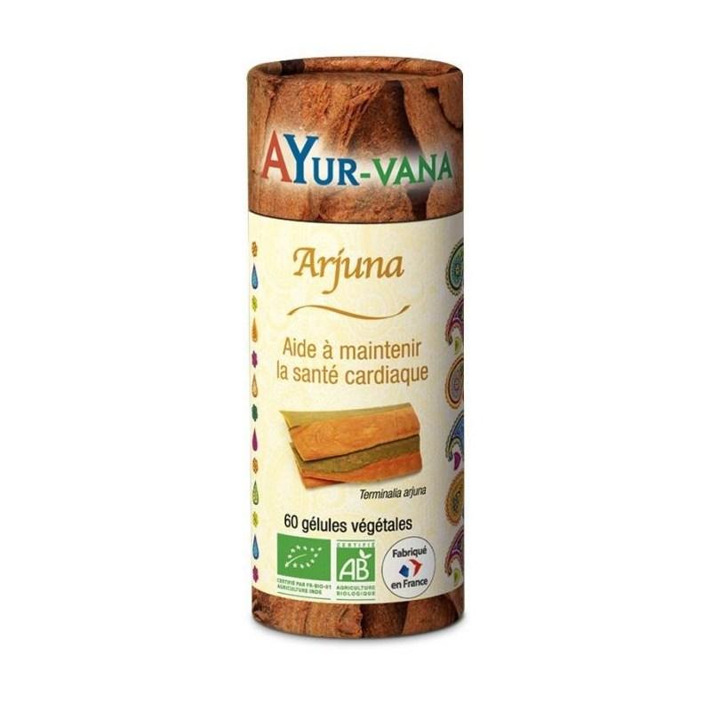 Arjuna (Terminalia arjuna) bio - Pilulier de 60 gélules - Ayurvana - 2021