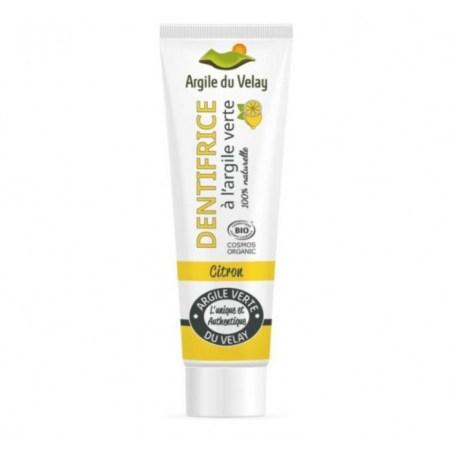 Dentifrice Citron Argile Verte du Velay - Tube de 75gr - Beliflor - 2021