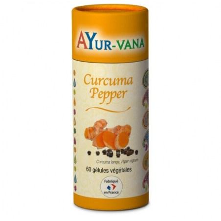 Curcuma Pepper Bio - Pilulier de 60 gélules végétales - Ayurvana - 2021
