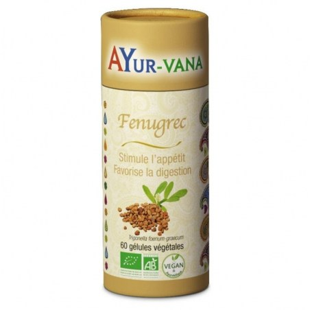 Fenugrec Bio - Pilulier de 60 gélules végétales - Ayurvana - 2021